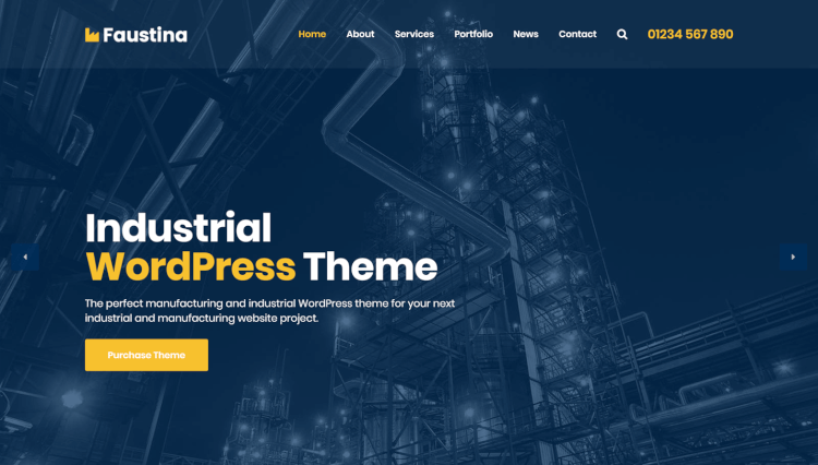 Faustina - Industrial Page Builder by SiteOrigin WordPress Theme