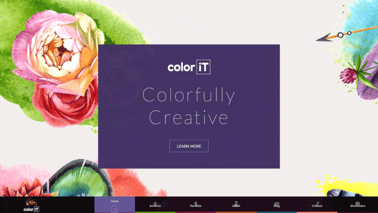 Color Folio - Colorful Portfolio Fullscreen WordPress Theme