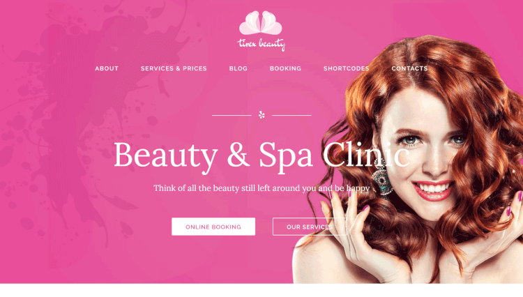 Tirex Beauty - Beauty and Hair Salon WordPress Theme