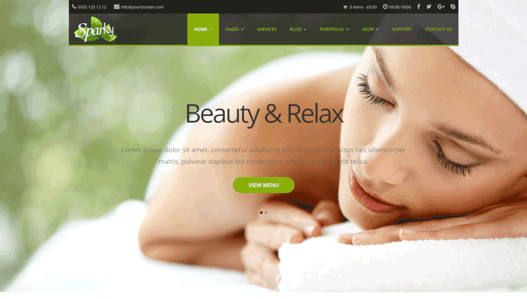 Sparky - Spa, Beauty and Hair Salon WordPress Theme