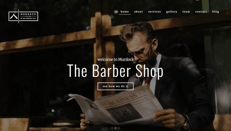 Murdock - Barbershop and Hair Salon WordPress Theme