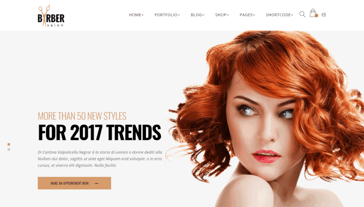 Barber - Multi-Purpose Hair Salon WordPress Theme