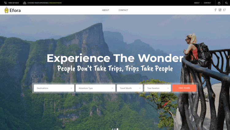 Efora - Tour Booking and Travel Agency WordPress Theme