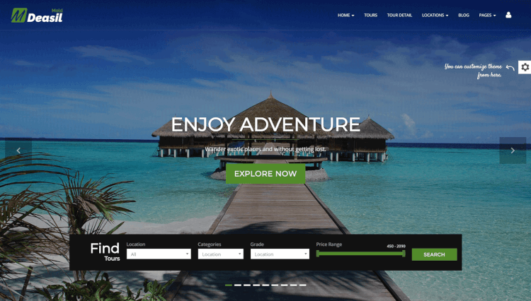 Deasil - Travel and Tour Agency WordPress Theme