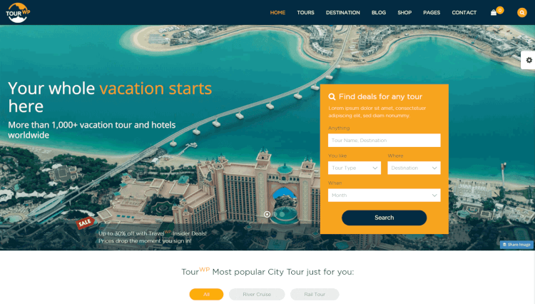 Tour WP - Tour Operator and Travel Agency WordPress