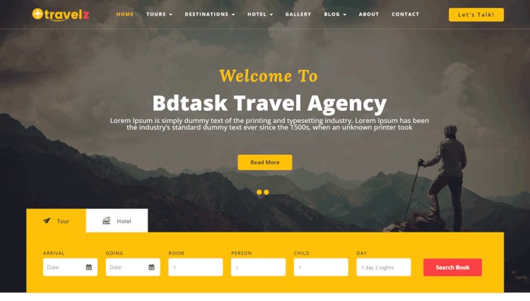Travelz - Tour and Travel Agency WordPress Theme