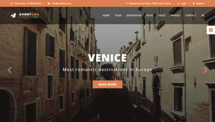 Aventura - Tour Booking System and Travel Agency WordPress Theme