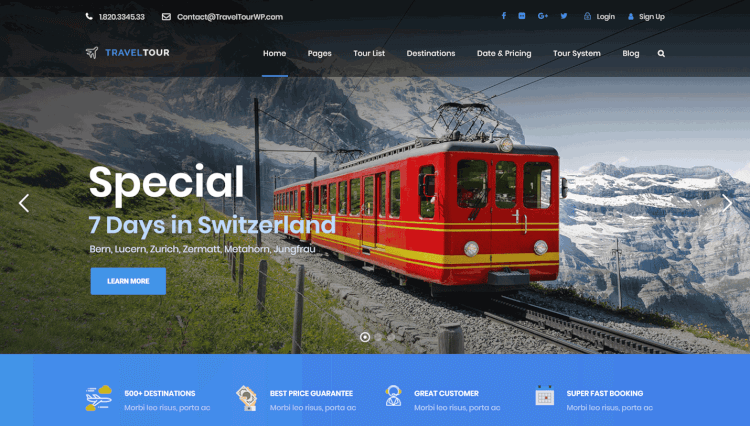 Travel Tour - Tour Booking and Travel Agency WordPress Theme