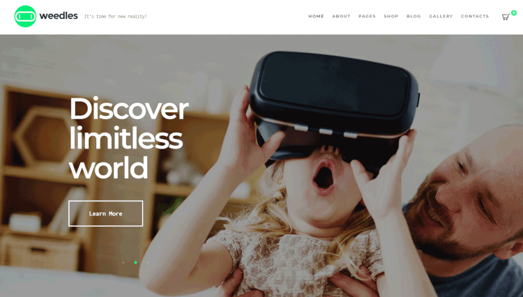 Weedles - Virtual Reality Single Product WordPress and WooCommerce Theme