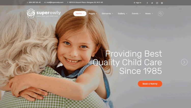 SuperOwly - Business WordPress Theme for Kids and Children