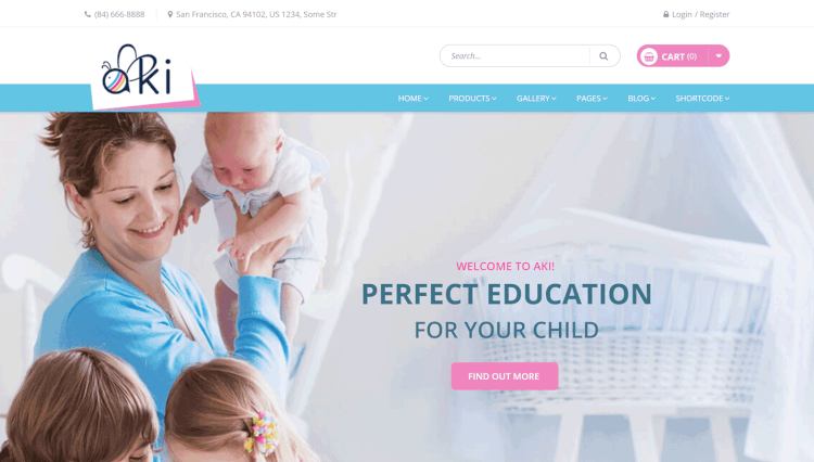 Aki - Multi-Purpose WordPress Theme for Kids and Children