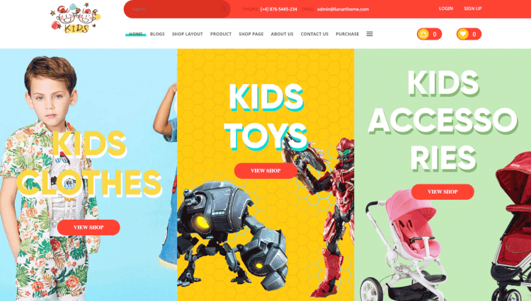 Kids - Baby Shop and Kids Store WooCommerce WordPress Theme for Kids and Children