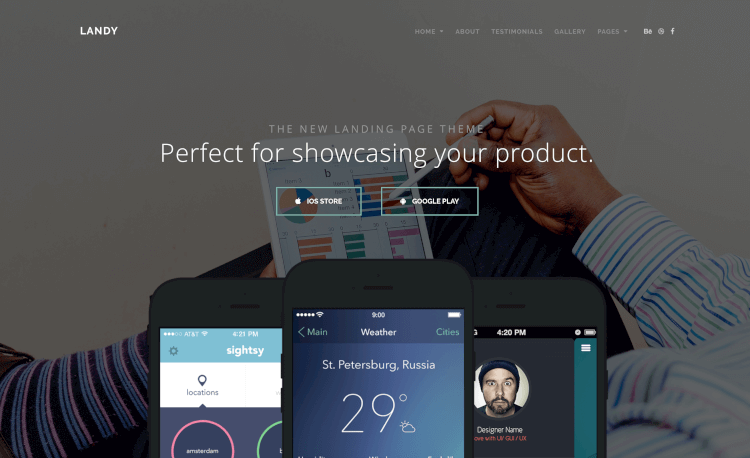 Landy - Clean & Sleek Landing Page Theme