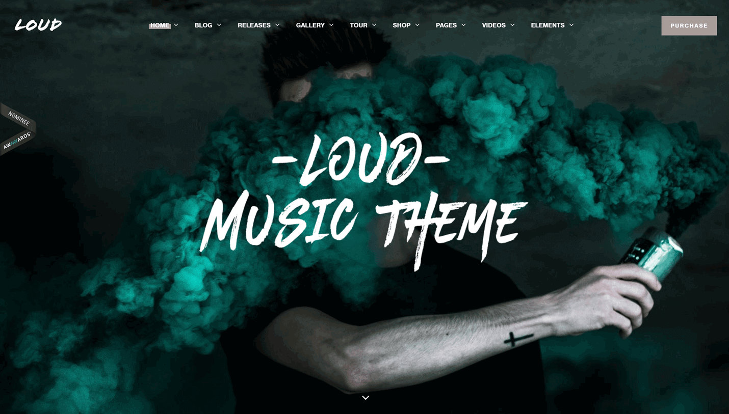 Loud - Modern WordPress Theme for Musicians and Performers