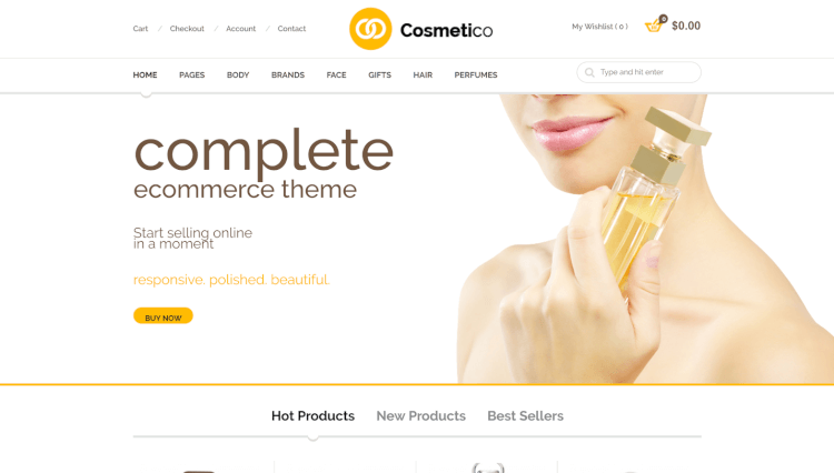 Cosmetico - WooCommerce Multilingual WordPress Theme