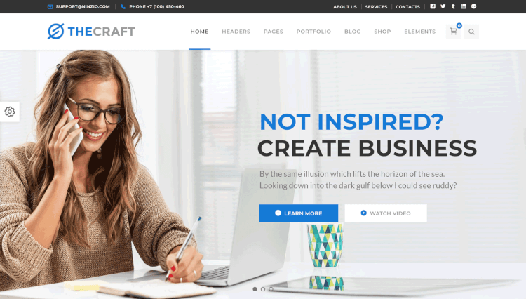 TheCraft - Multi-Purpose Multilingual WordPress Theme