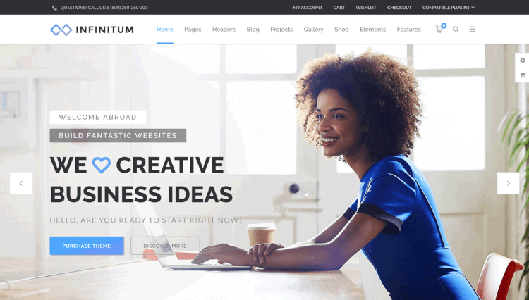 Infinitum - Multi-Purpose RTL Multilingual WordPress Theme
