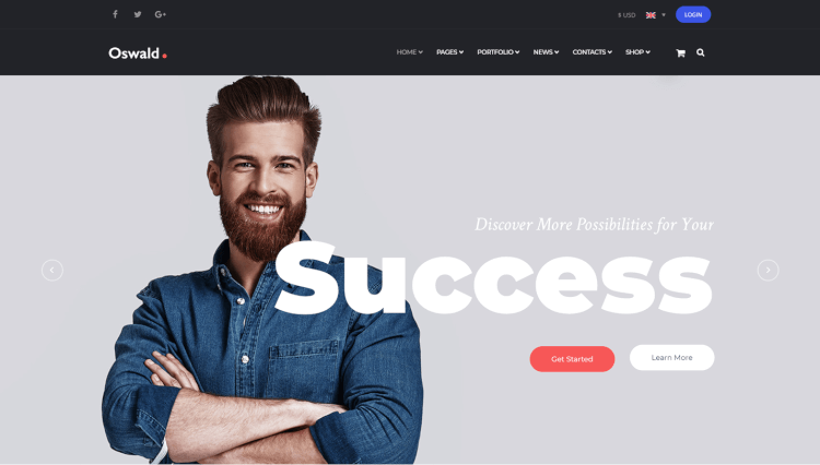 Oswald - Creative Multi-Purpose Multilingual WordPress Theme