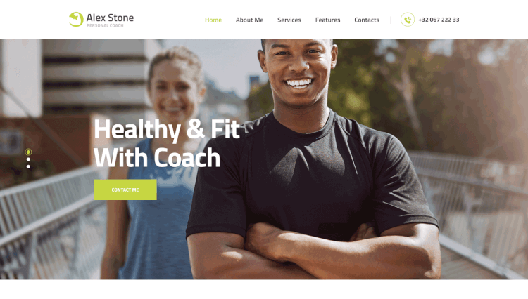 Alex Stone - Drag-and-Drop Sport and Athlete Coaching WordPress Theme