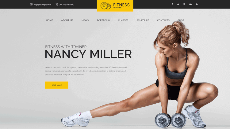 Sport Trainer - Sport and Athlete Coaching WordPress Theme