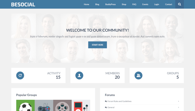 Besocial - Social Network and Community BuddyPress Compatible WordPress Theme