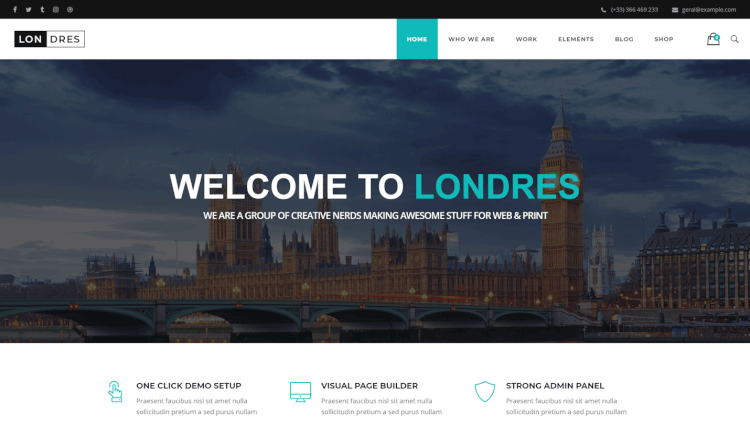 Londres - Multi-Concept BuddyPress Compatible WordPress Theme