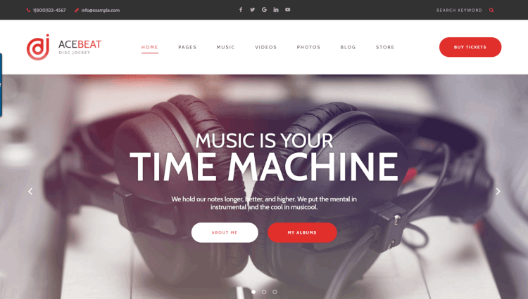 AceBeat - Personal DJ WordPress WordPress Theme