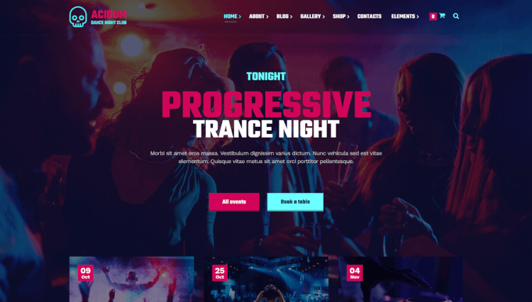 Acidum - Night Club, Music and DJ WordPress Theme