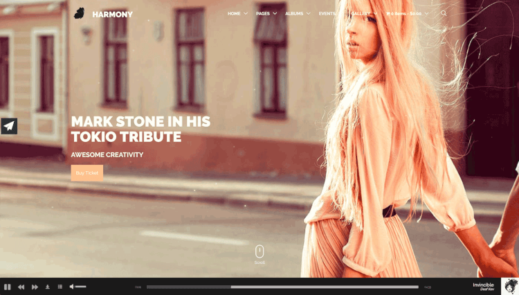 Harmony - Music and DJ WordPress Theme