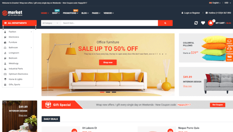 eMarket - Marketplace and Single Product WooCommerce WordPress Theme