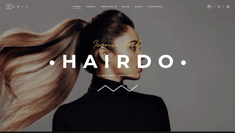Curly - Hairdresser and Hair Salon WordPress Theme
