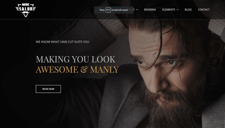 MenzSalon - Barbershop and Hair Salon WordPress Theme