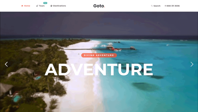 Goto - Tour and Travel Agency WordPress Theme