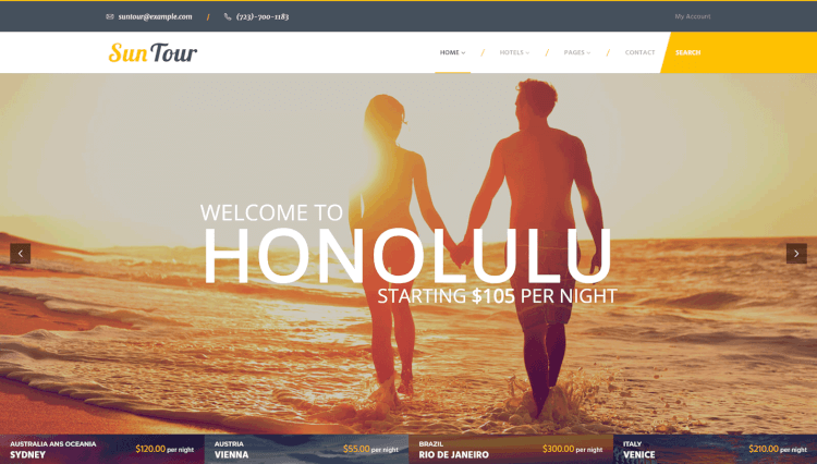 SunTour - Creative Travel Agency WordPress Theme