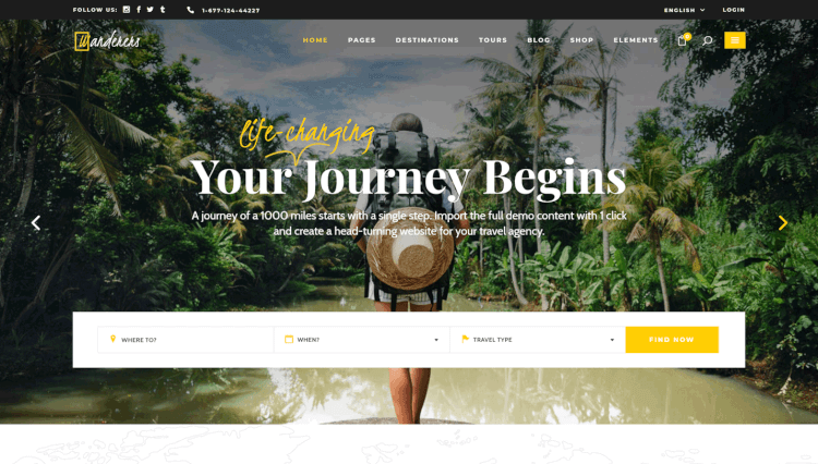 Wanderers - Adventurous Travel Agency WordPress Theme