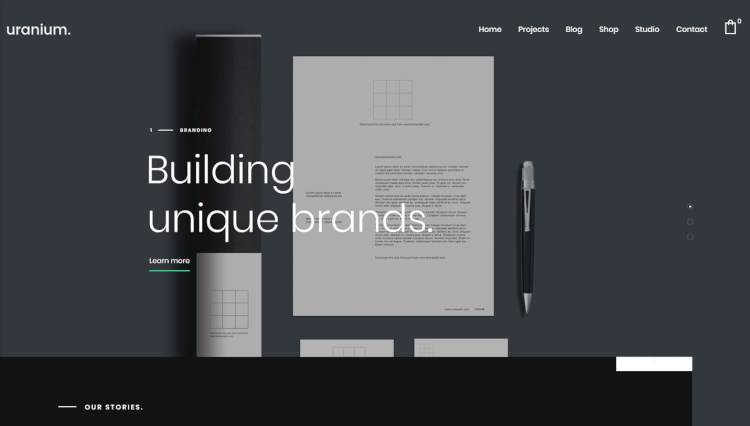 Uranium - Creative Portfolio Black WordPress Theme