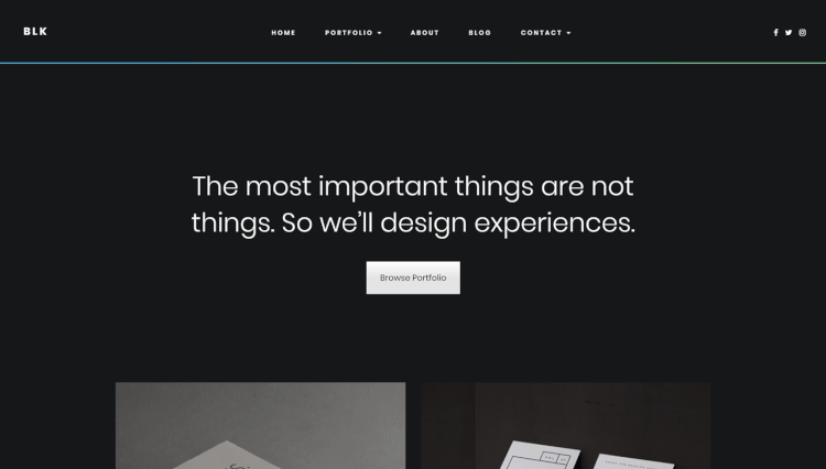 BLK - Creative Portfolio Dark WordPress Theme