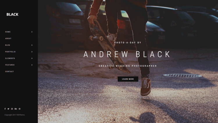 Black - Minimal Portfolio Black WordPress Theme