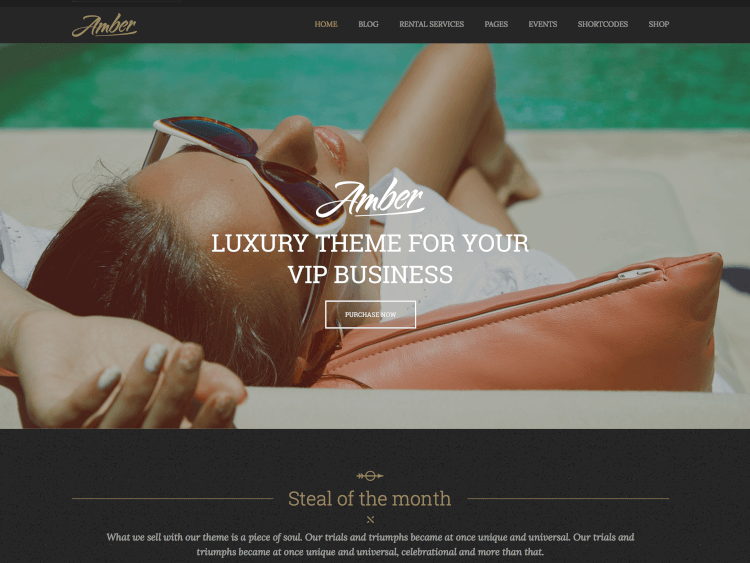 Amber - Luxury Business WordPress Theme