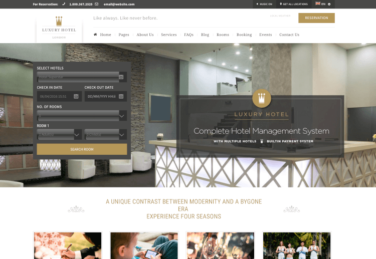 Luxury - Hotel Reservation Theme