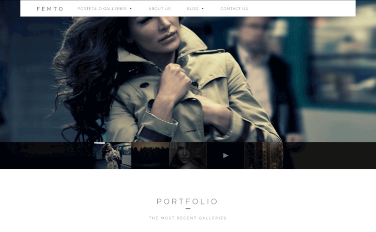 Femto - One Page Photography Theme