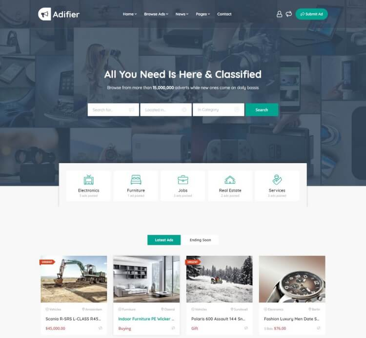 37+ Best Classified & Directory WordPress Themes 2018 - Theme Junkie