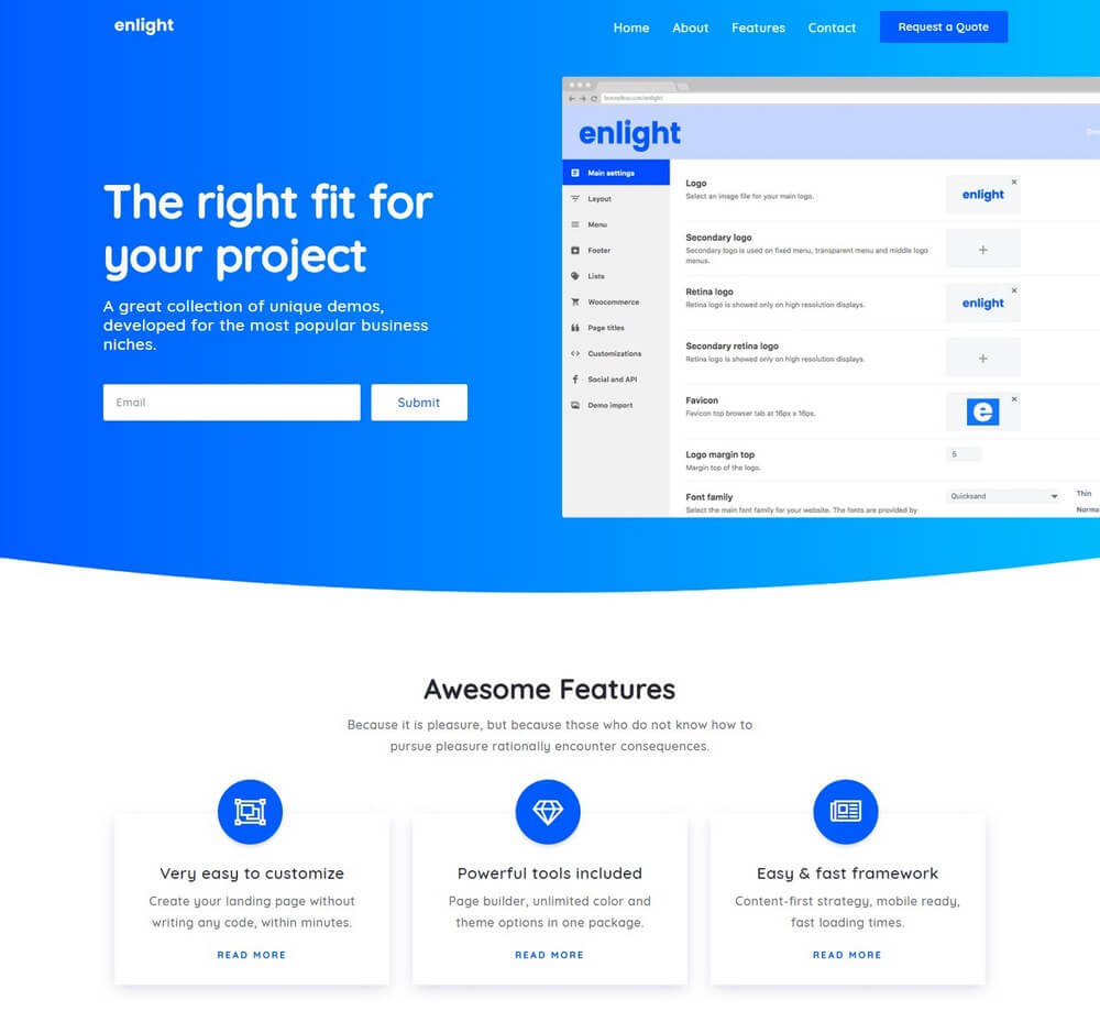 Enlight - Multipurpose Landing Page WordPress Theme