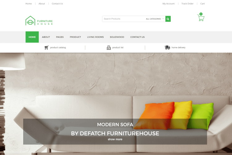 Furniture House - WooCommerce WordPress Theme