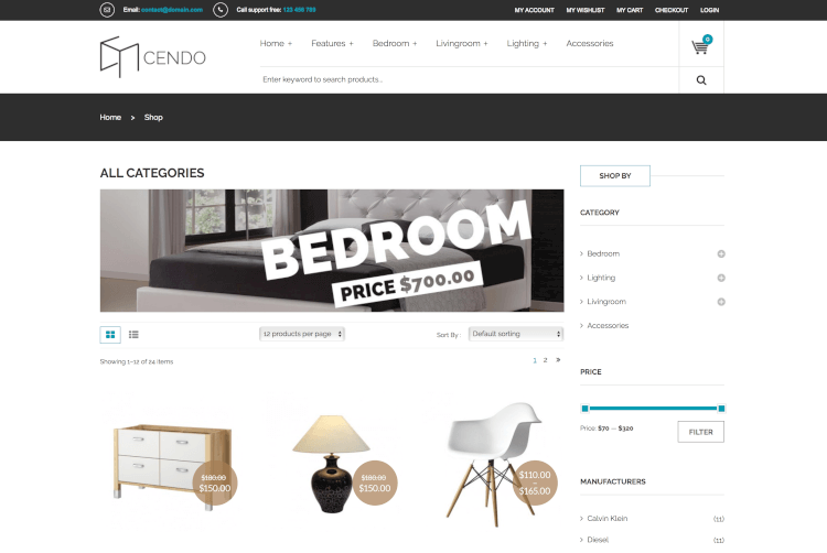 VG Cendo - WooCommerce Theme for Furniture Stores
