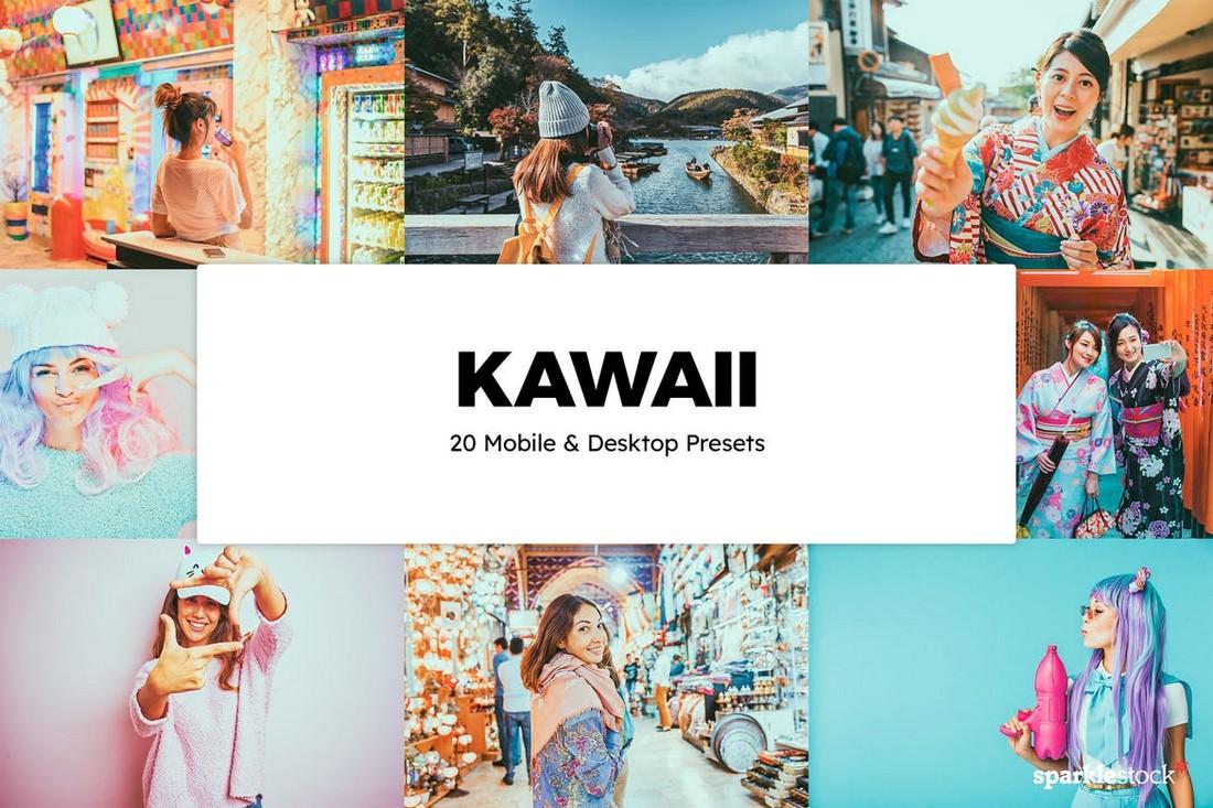 20 Preset & LUT Lightroom Kawaii