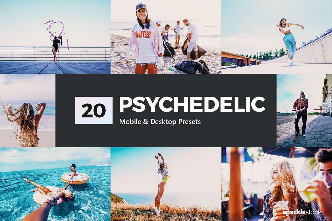 20 LUT & Preset Lightroom Psychedelic