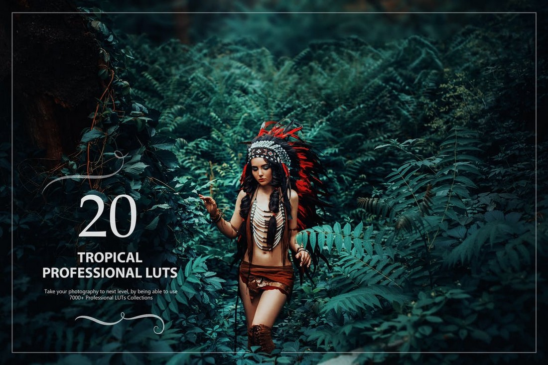 20 Tropical LUTs for Lightroom & Photoshop