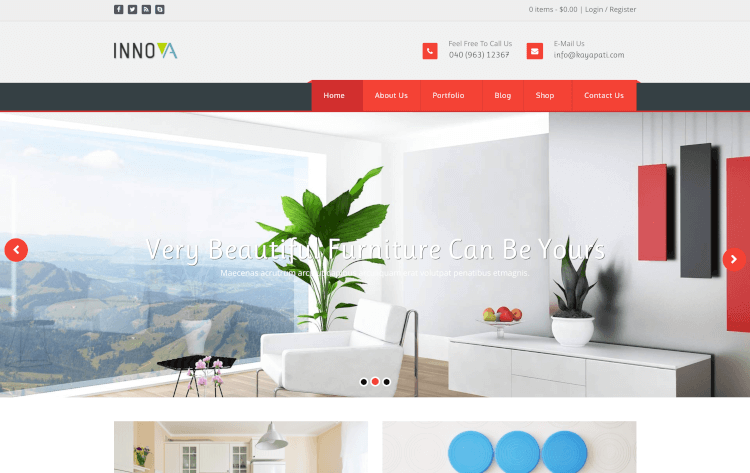 Innova - Interior & Funiture WordPress Theme