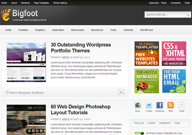New Theme: Bigfoot - a Community Based WordPress Theme - Theme Junkie